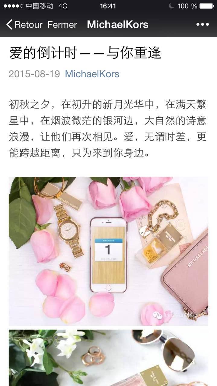 WeChat Michael Kors